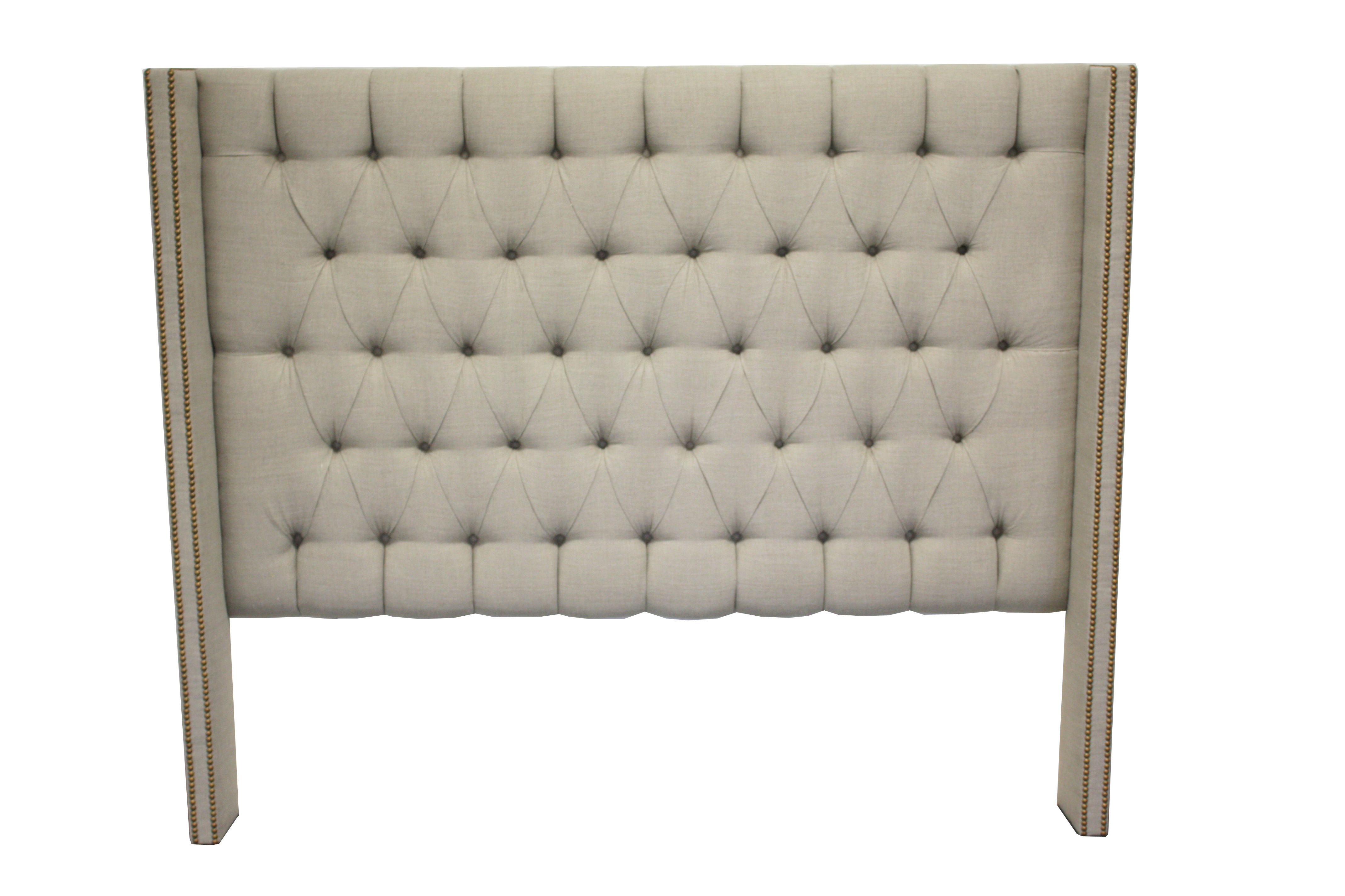 upholstered in ashley queen headboard tufting gray dark with design products by nailhead furniture and