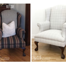 Wingback Chair Reupholster